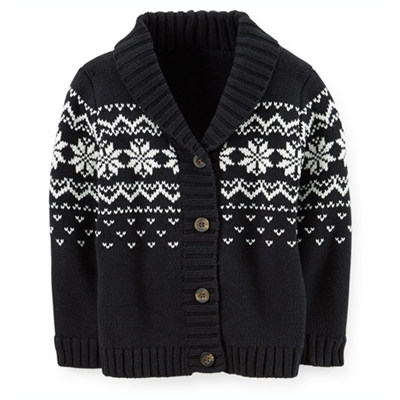 [235B276KA] Carter'sShawl Collar Fair Isle Cardigan