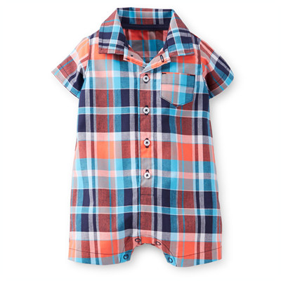 [#118A081KK] Carter'sCotton Plaid Romper