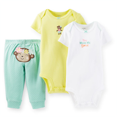 [121D518KM] Carter's3-Piece Bodysuit & Pant Set