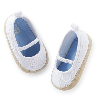 [29127A35] Carter'sEyelet Espadrille Crib Shoes