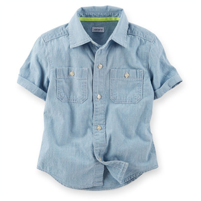 [225B524KR] Carter'sChambray Button-Front Shirt