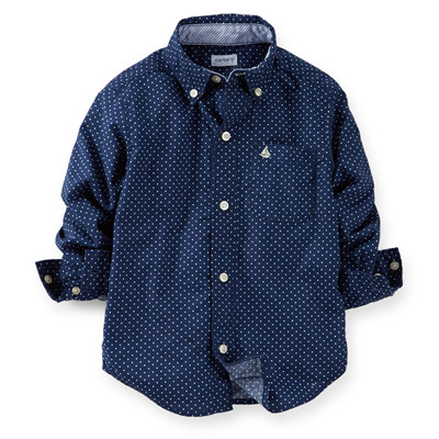 [225B485KR] Carter'sPolka Dot Button-Front Shirt
