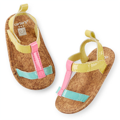[29204A41] Carter'sStrappy Sandal Crib Shoes