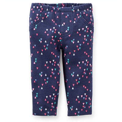 [118A214KW] Carter'sFrench Terry Heart Print Pants
