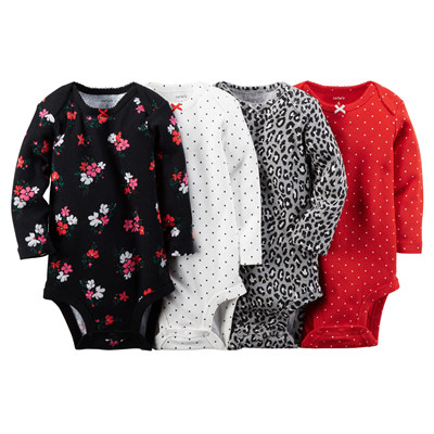 [126G072B122] Carter's4-Pack Long-Sleeve Bodysuits