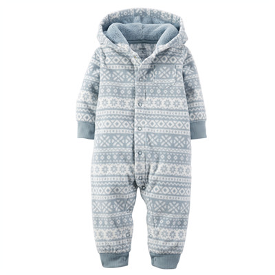 [118G025MN] Carter'sFair Isle Hooded Fleece Jumpsuit