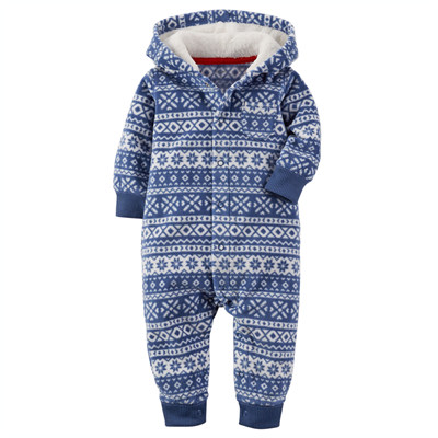 [118G038FH] Carter'sFair Isle Hooded Fleece Jumpsuit