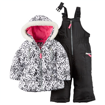[C2155S30B35] Carter'sAnimal Print Snowsuit Set