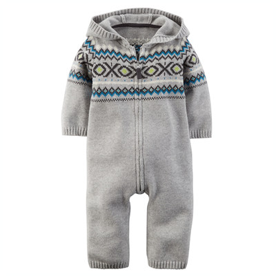 [127G050MW] Carter'sFair Isle Hooded Jumpsuit