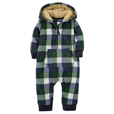 [118G029NE] Carter'sHooded Fleece Jumpsuit