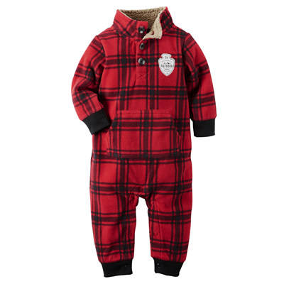 [118G037NF] Carter'sMock-Neck Fleece Jumpsuit