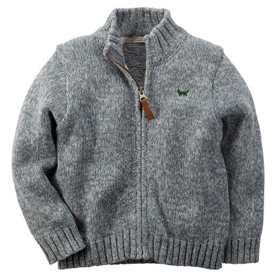 [225G143NF] Carter'sZip-Front Mock-Neck Sweater
