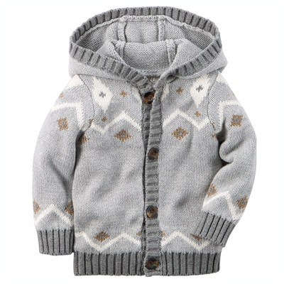 [127G056NS] Carter'sHooded Fair Isle Cardigan