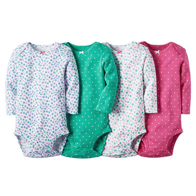 [126G126B123] Carter's4-Pack Long-Sleeve Bodysuits