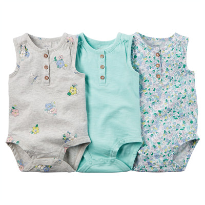 [127G109B133] Carter's3-Pack Sleeveless Bodysuits