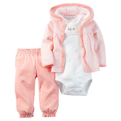 [126G277OR] Carter's3-Piece Babysoft Cardigan Set