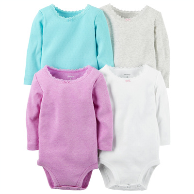 [126G337B139] Carter's4-Pack Long-Sleeve Bodysuits