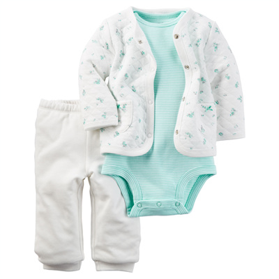 [121G929PE] Carter's3-Piece Little Jacket Set