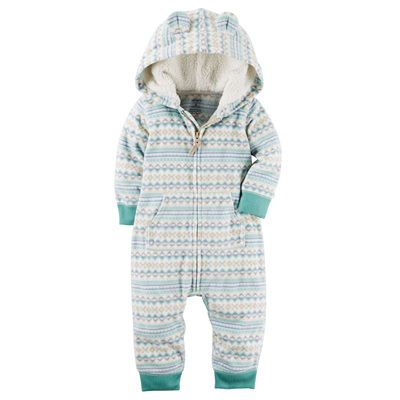[118G666PO] Carter'sHooded Fleece Jumpsuit