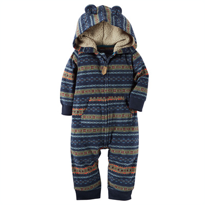 [118G664PV] Carter'sHooded Fleece Jumpsuit