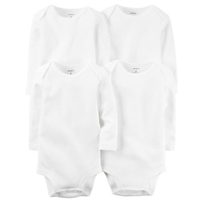 [126G776] Carter's 4-PackLong-Sleeve Bodysuits