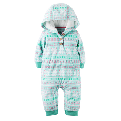 [118G645PZ] Carter'sHooded Fleece Jumpsuit
