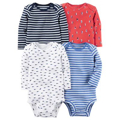 [126G600B157] Carter's4-Pack Long-Sleeve Bodysuits