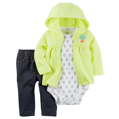 [121H256QN] Carter's3-Piece Neon Little Jacket Set