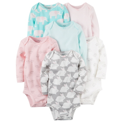 [126G890B182] Carter'sLong-Sleeve Original Bodysuits