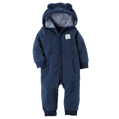 [118H619ET] Carter'sHooded Fleece Jumpsuit