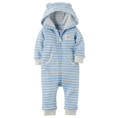 [118H371LH] Carter'sHooded Brushed Fleece Jumpsuit