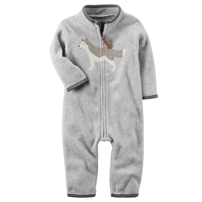 [118H382SB] Carter'sHeathered Fleece Jumpsuit