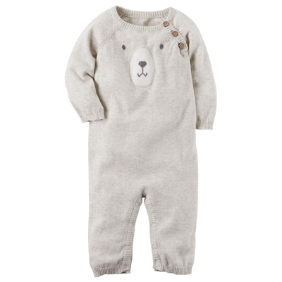 [127G586RW] Carter'sBear Sweater Jumpsuit