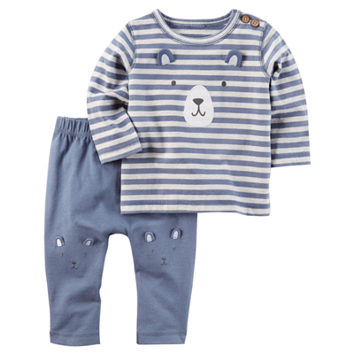 [127G587RV] Carter's2-Piece Bear Top & Pant Set