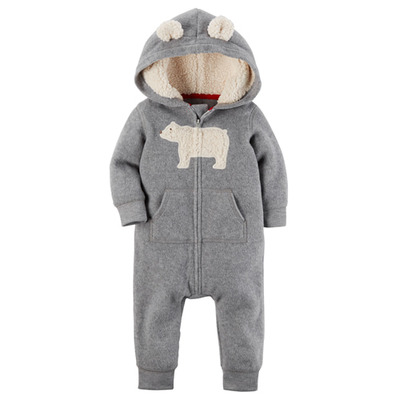 [[118H621EC] Carter'sHooded Fleece Jumpsuit