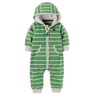 [118H393NF] Carter'sDino Hooded Fleece Jumpsuit