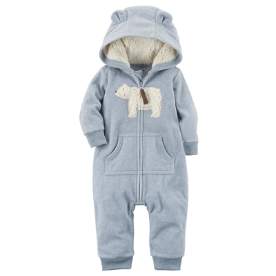 [118H399EF] Carter'sPolar Bear Fleece Jumpsuit