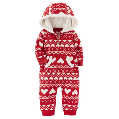 [118H395PJ] Carter'sFair Isle Fleece Jumpsuit