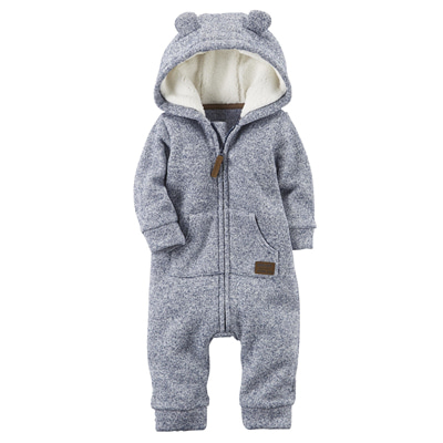 [127G559EB] Carter'sZip-Up Hooded Sherpa Jumpsuit