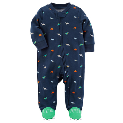 [115G460SK] Carter'sZip-Up Dinosaur Cotton Sleep & Play