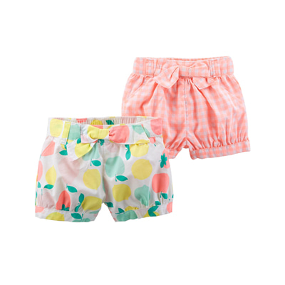 [127H001QF] Carter's2-Pack Neon Bow Shorts