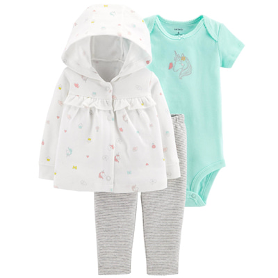 [126H427HV] Carter's3-Piece Little Cardigan Set