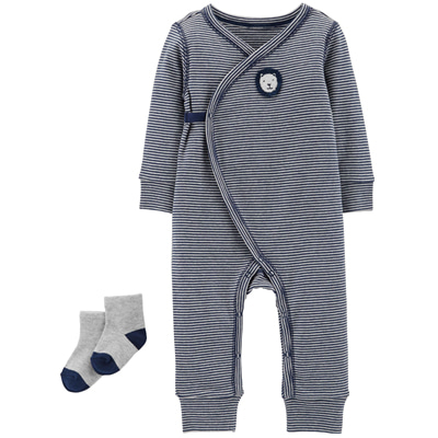[126H479SK] Carter's2-Piece Jumpsuit & Sock Set