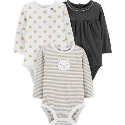 [127H334B223] Carter's3-Pack Cat Original Bodysuits