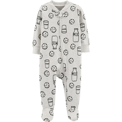 [16004410TL] Carter'sCookies & Milk Zip-Up Cotton Sleep & Play