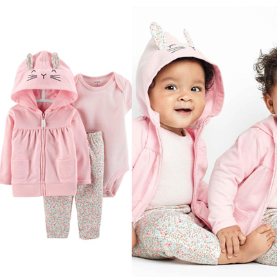 [16520610VG] Carter's3-Piece Little Jacket Set