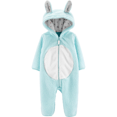 [19283610] Carter'sBunny Hooded Sherpa Jumpsuit