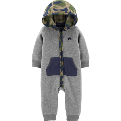 [18642810QB] Carter'sHooded Fleece Jumpsuit