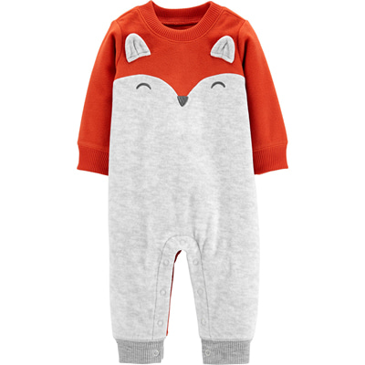 [18643610VR] Carter'sFox Fleece Jumpsuit