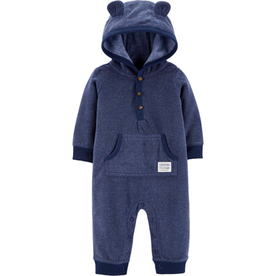 [18644010VS] Carter'sBear Hooded Fleece Jumpsuit